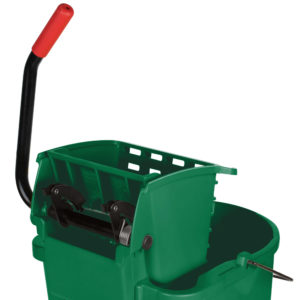 Rubbermaid FG758888GRN Wave Brake de prensa lateral con capacidad para 8.7 galones, color verde