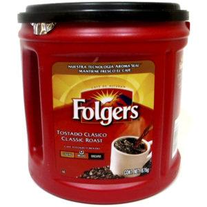 Café marca Folgers clásico de 876 gr