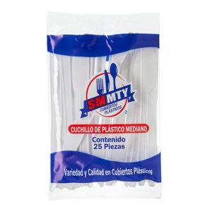 Paquete con cuchillos de plástico con 20 pzs