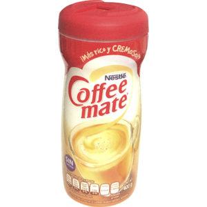 Envase con sustituto de crema marca Coffe Mate de 400gr