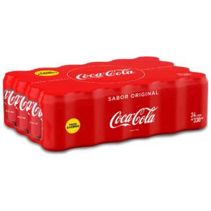 Refresco enlatado de 330 ml marca Coca Cola con 24 pzs
