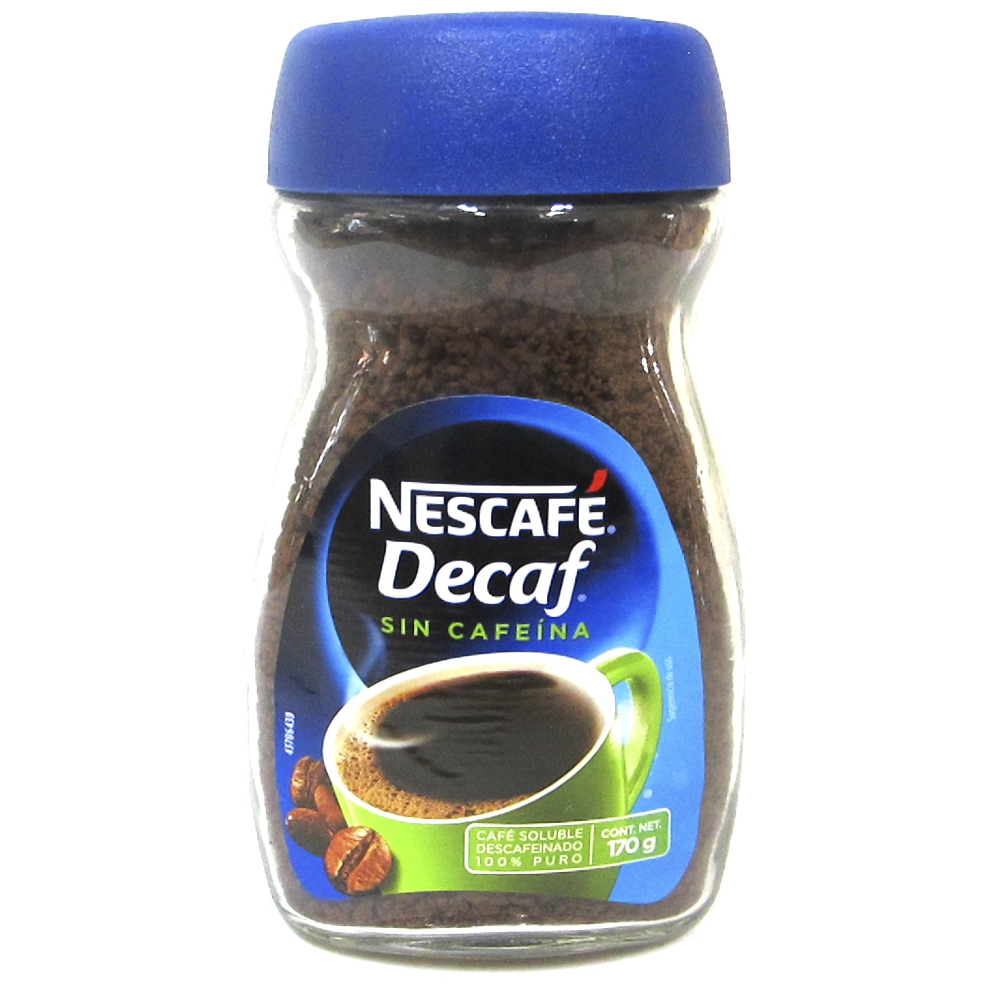 Café marca Nescafe Decaf de 175 gr  1