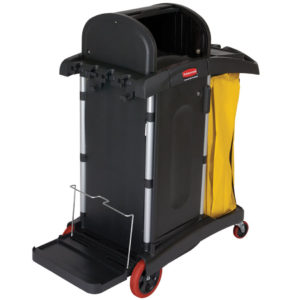 Rubbermaid FG9T7500BLA carro de limpieza con capo superior y multiples compartimentos disponibles