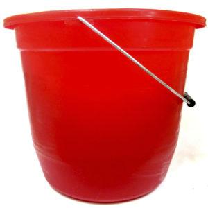 Cubeta color rojo de plástico numero 20