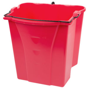 Rubbermaid FG9C7400RED cubeta recolectora Wave Brake roja con capacidad para 4.5 galones de aguas negras