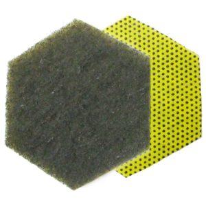 3M Scotch Brite fibra 96HEX Dual, quita-cochambre, color amarillo/gris, caja con 15 piezas