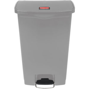 Rubbermaid 1883604 basurero Slim-jim front Step-on con capacidad para 18 gal, color gris con pedal