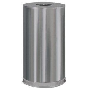 Rubbermaid FGCC16SSSGL basurero decorativo open top, con capacidad para 15 galones, acero inoxidable satinado,con revestimiento de acero galvanizado