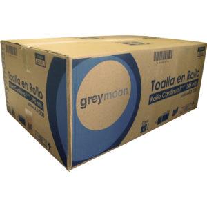 Greymoon 200-18 sistema AD-200 toalla en rollo color blanca hoja sencilla de flujo continuo, caja con 6 rollos de 245 mts cada uno