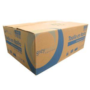 Greymoon 200-25 sistema AD-200 toalla en rollo color blanca hoja sencilla institucional, caja con 6 rollos de 213 mts cada uno