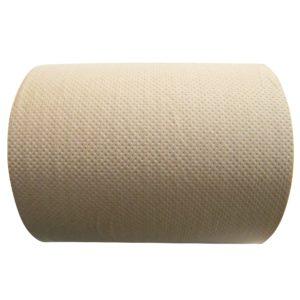 Dalia K180 toalla rollo eco Kraft hoja sencilla marrón, caja con 6 rollos de 180 metros cada uno