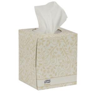 Tork TF6910A caja de pañuelos color blanco, caja con 94 piezas